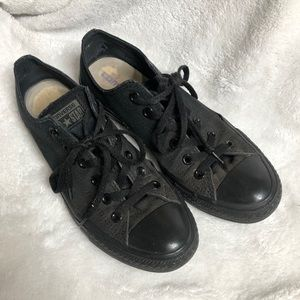 Converse All Black Sneakers 9 Used Tennis Shoes